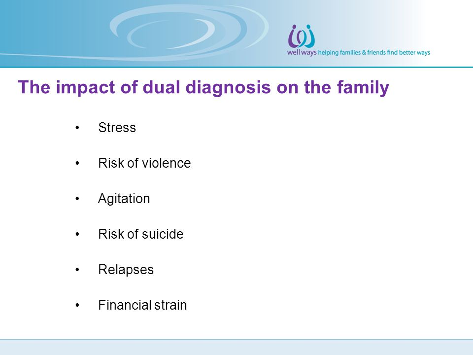 The impact of dual diagnosis on the family