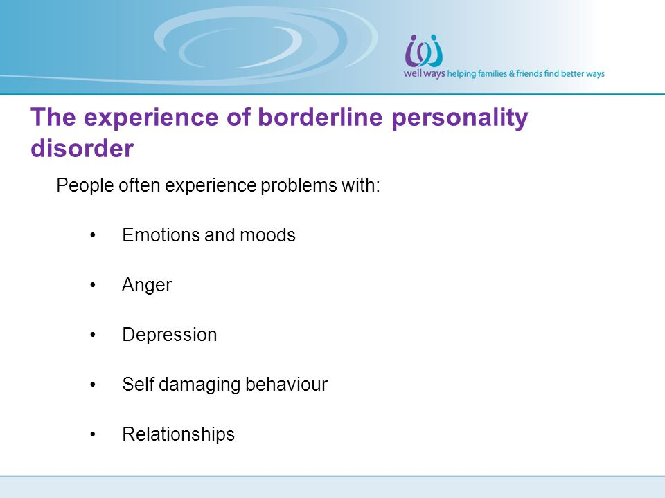 The experience of borderline personality disorder