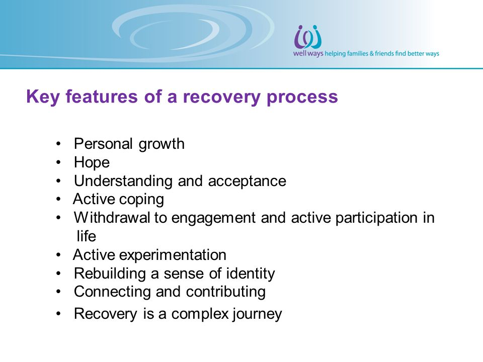 Key features of a recovery process