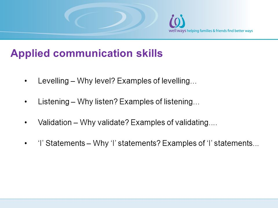 Applied communication skills
