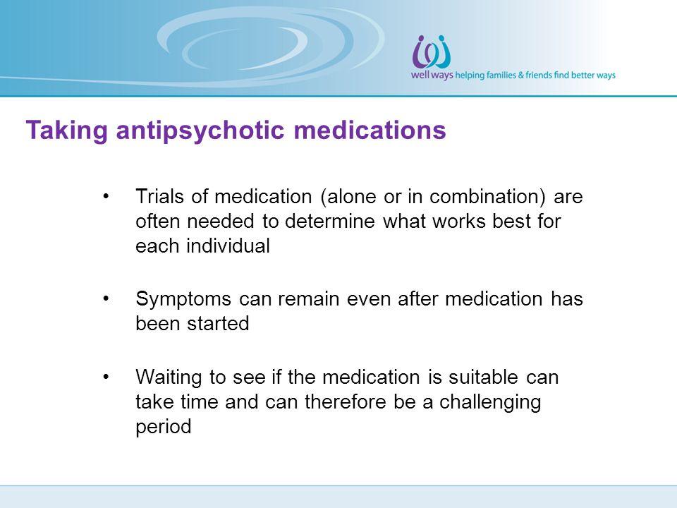 Taking antipsychotic medications