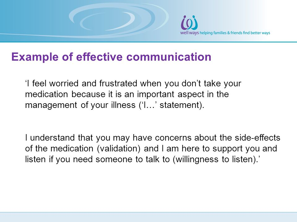 Example of effective communication