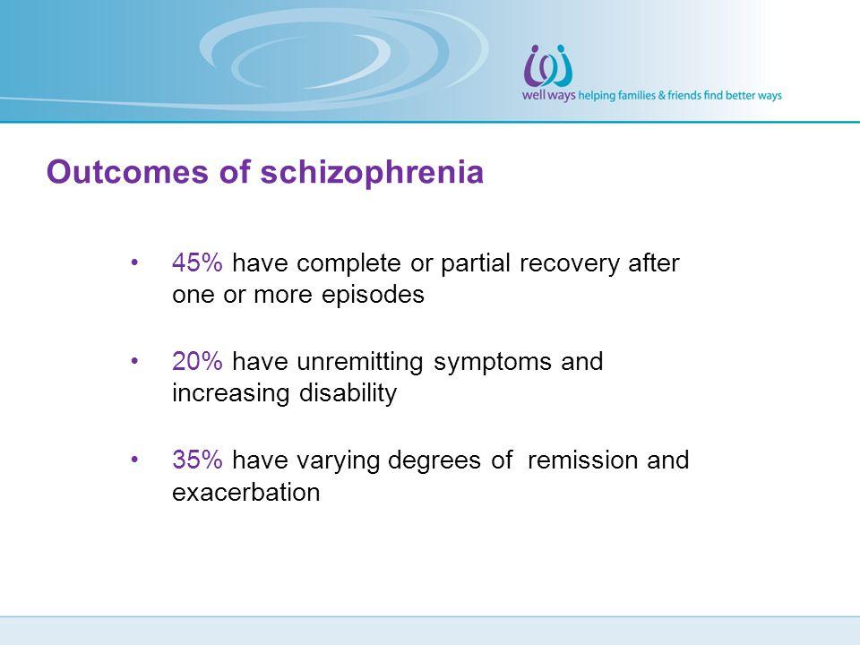 Outcomes of schizophrenia