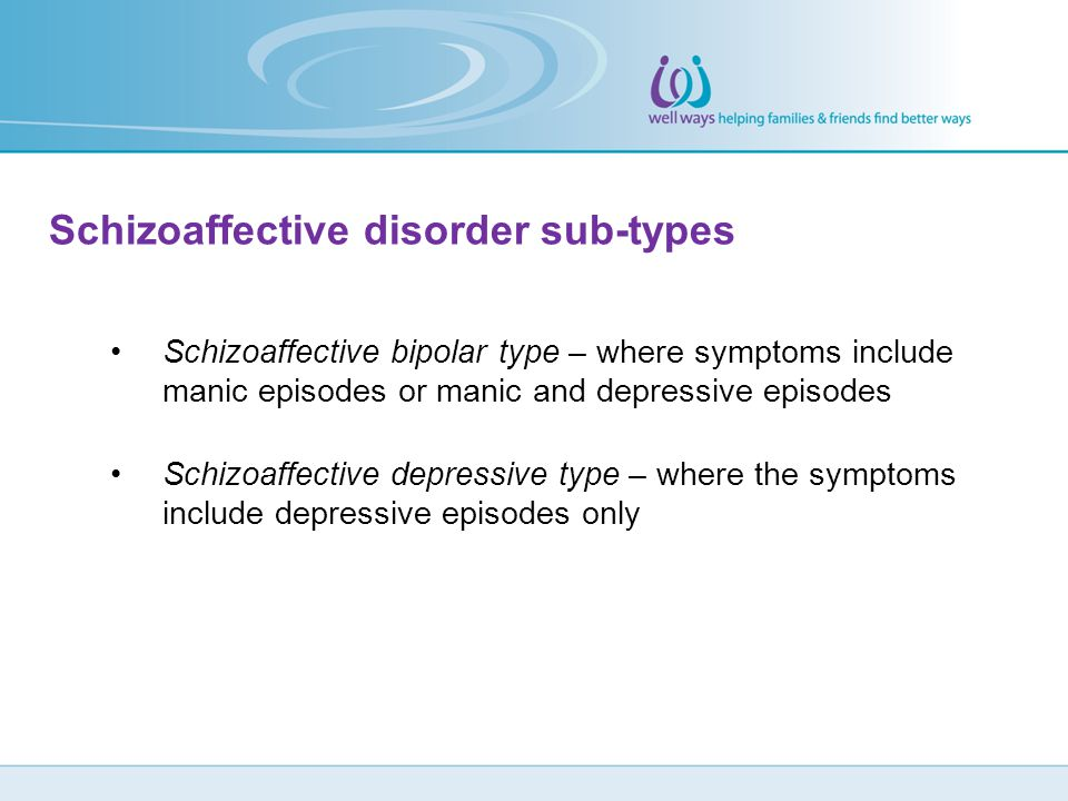 Schizoaffective disorder sub-types
