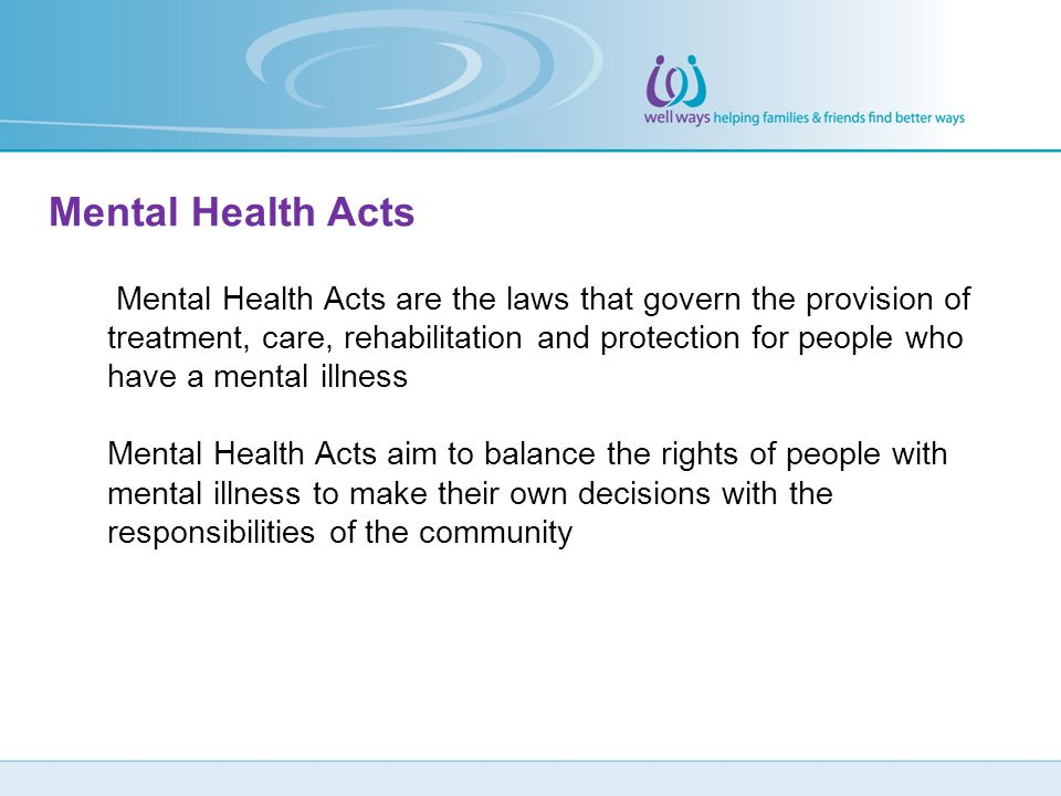 Mental Health Acts