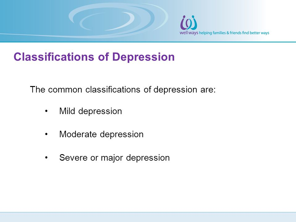 Classifications of Depression