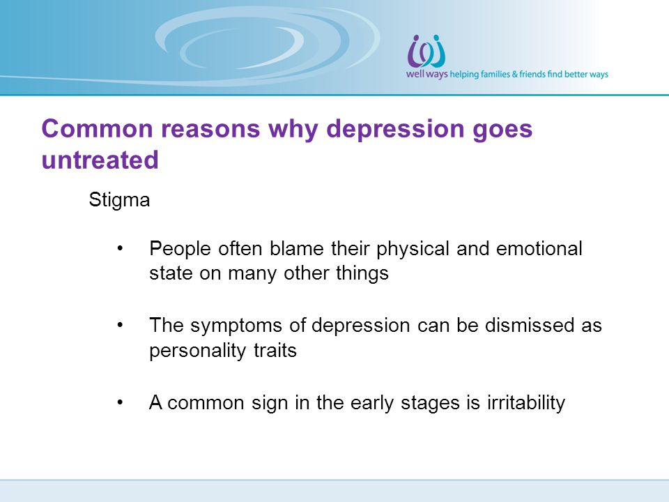 Common reasons why depression goes untreated