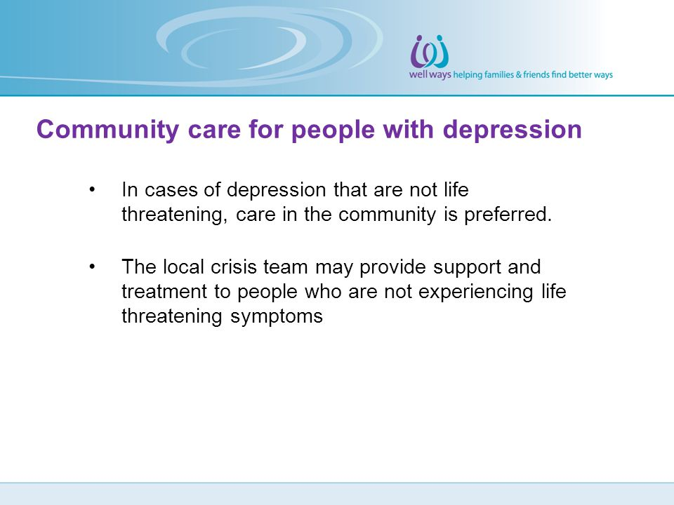 Community care for people with depression