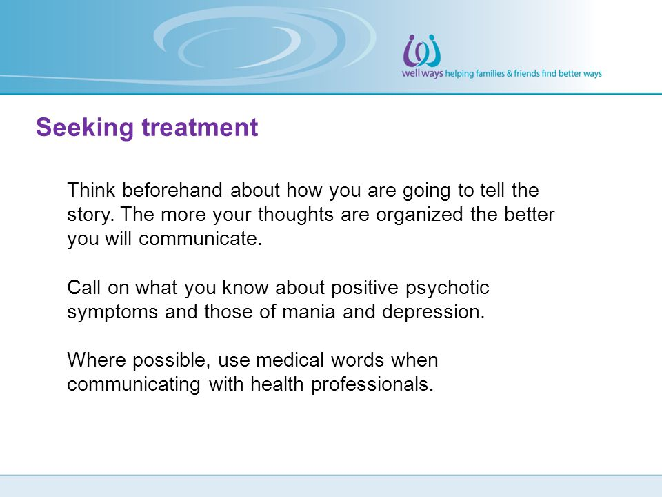 Seeking treatment