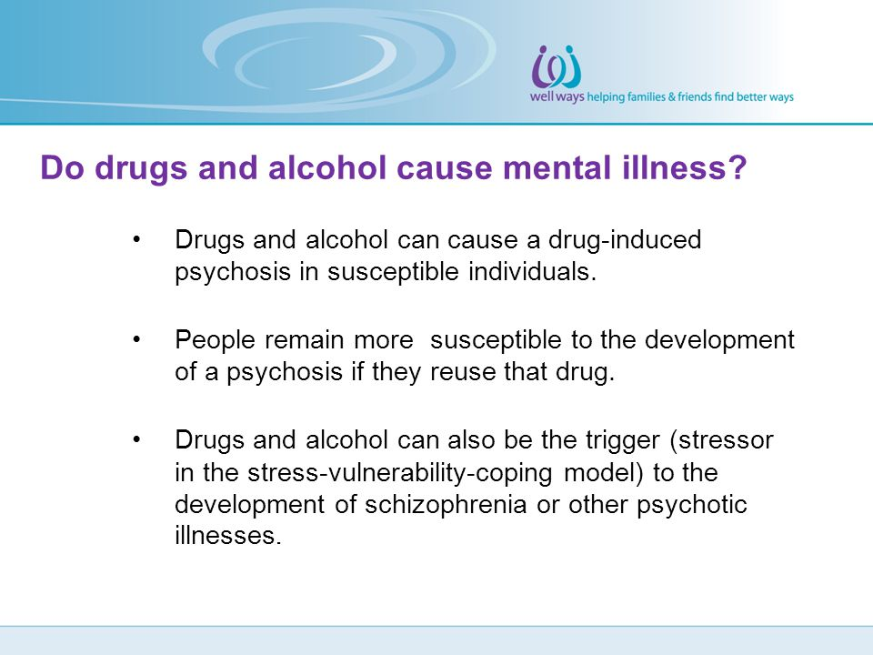 Do drugs and alcohol cause mental illness