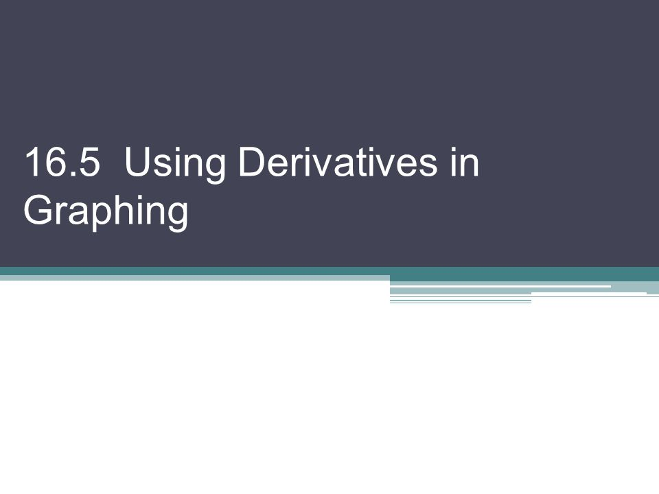 16.5 Using Derivatives in Graphing