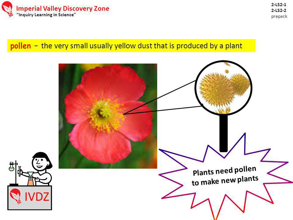 Plants need pollen to make new plants