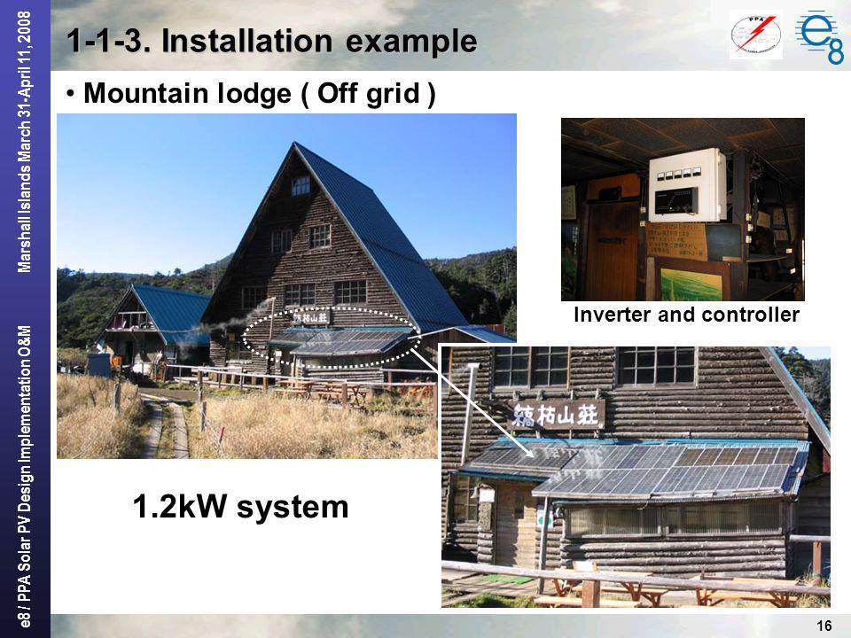 1-1-3. Installation example