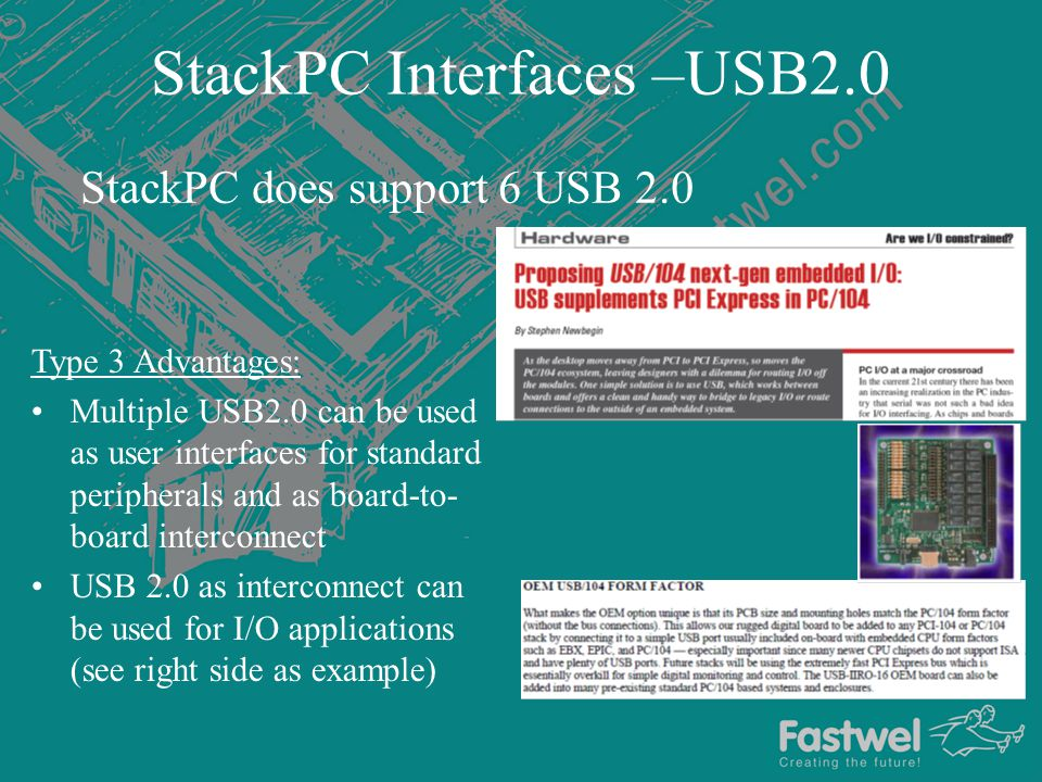 StackPC Interfaces –USB2.0