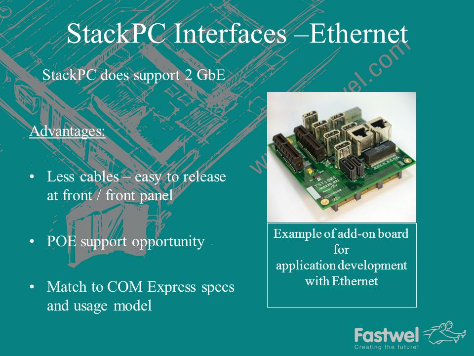 StackPC Interfaces –Ethernet