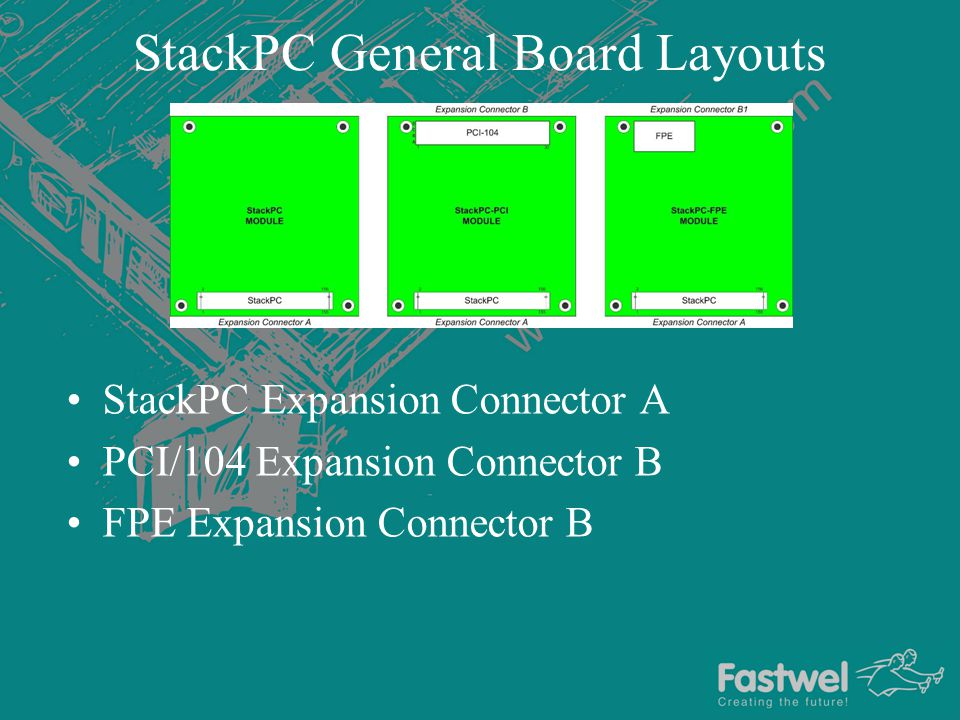StackPC General Board Layouts