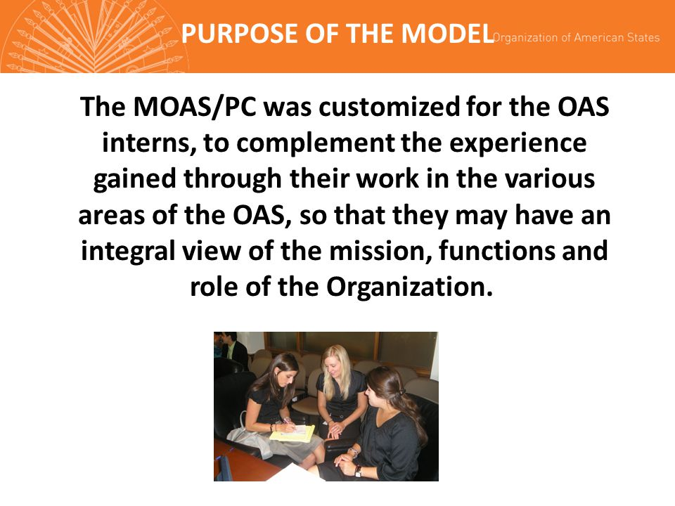 PURPOSE OF THE MODEL
