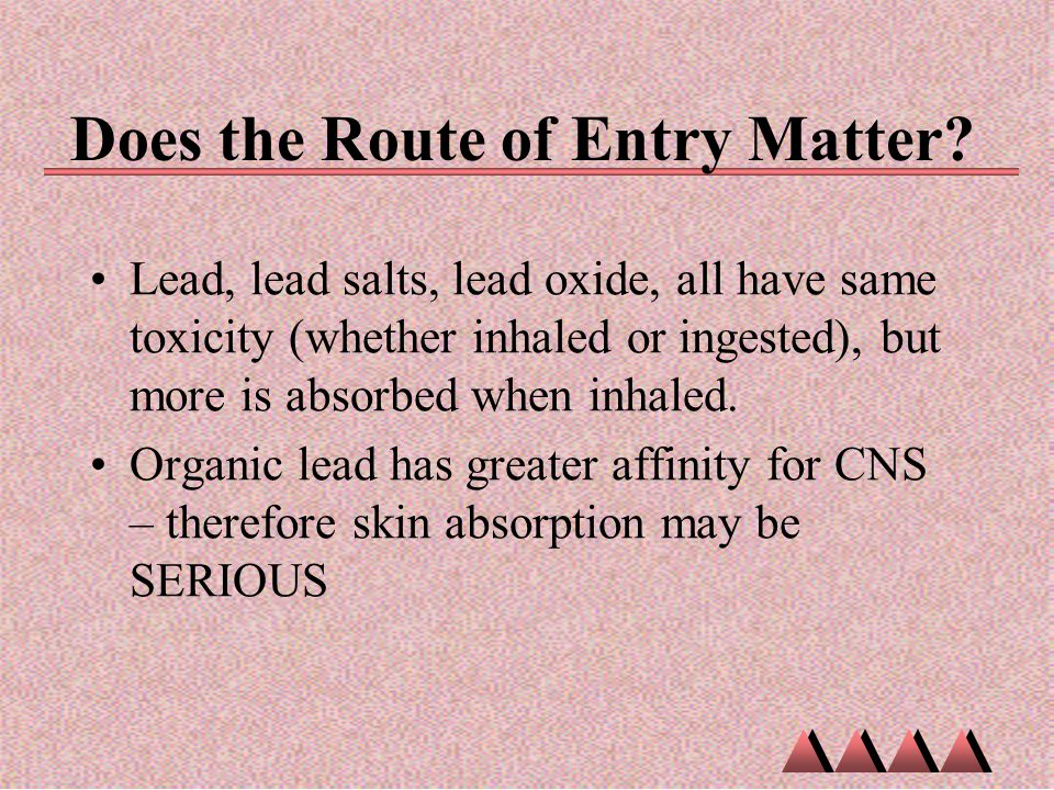 Does the Route of Entry Matter