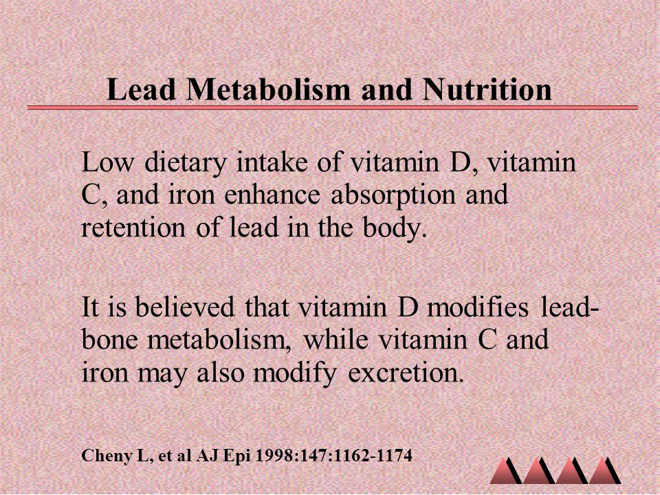 Lead Metabolism and Nutrition