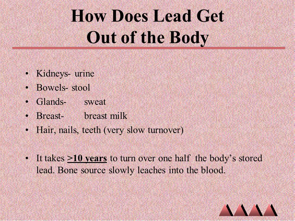 How Does Lead Get Out of the Body