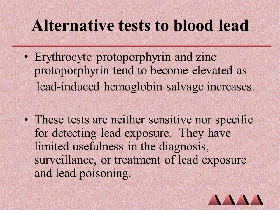 Alternative tests to blood lead