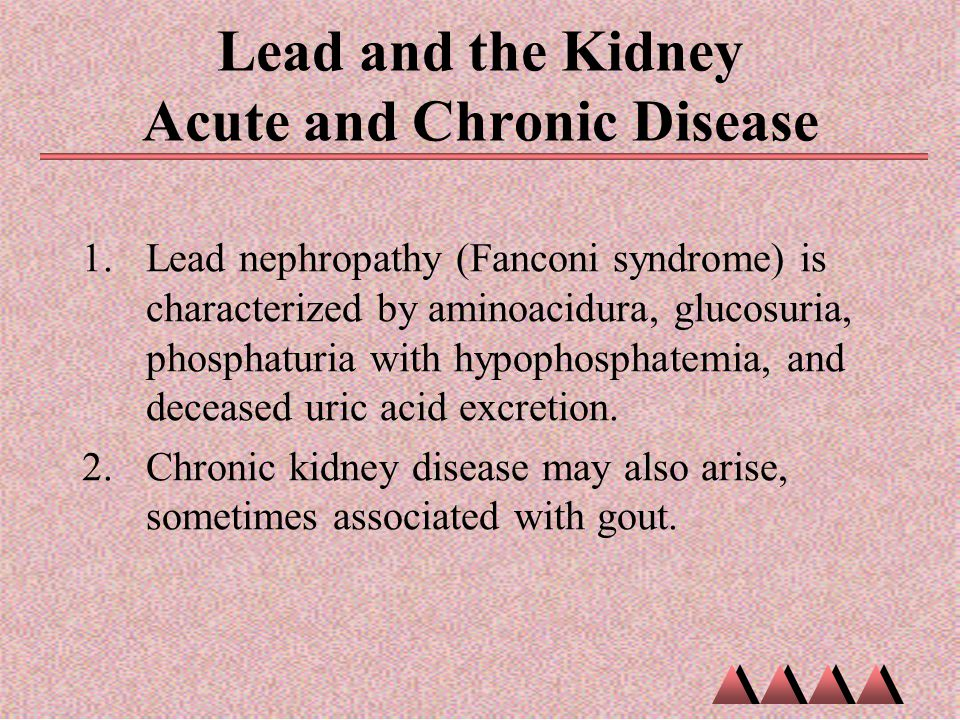 Lead and the Kidney Acute and Chronic Disease