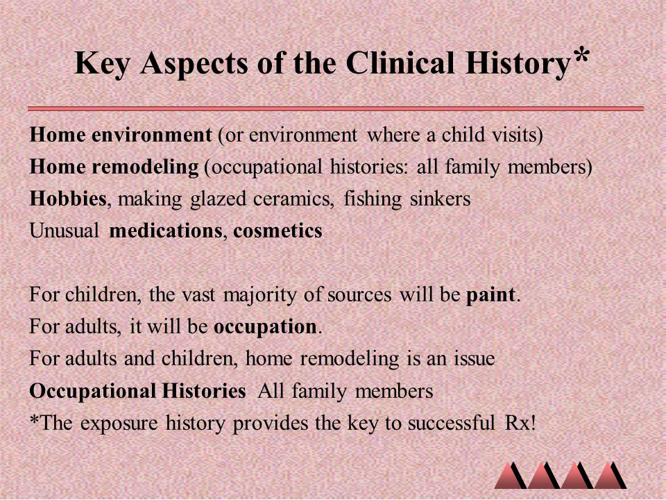 Key Aspects of the Clinical History*
