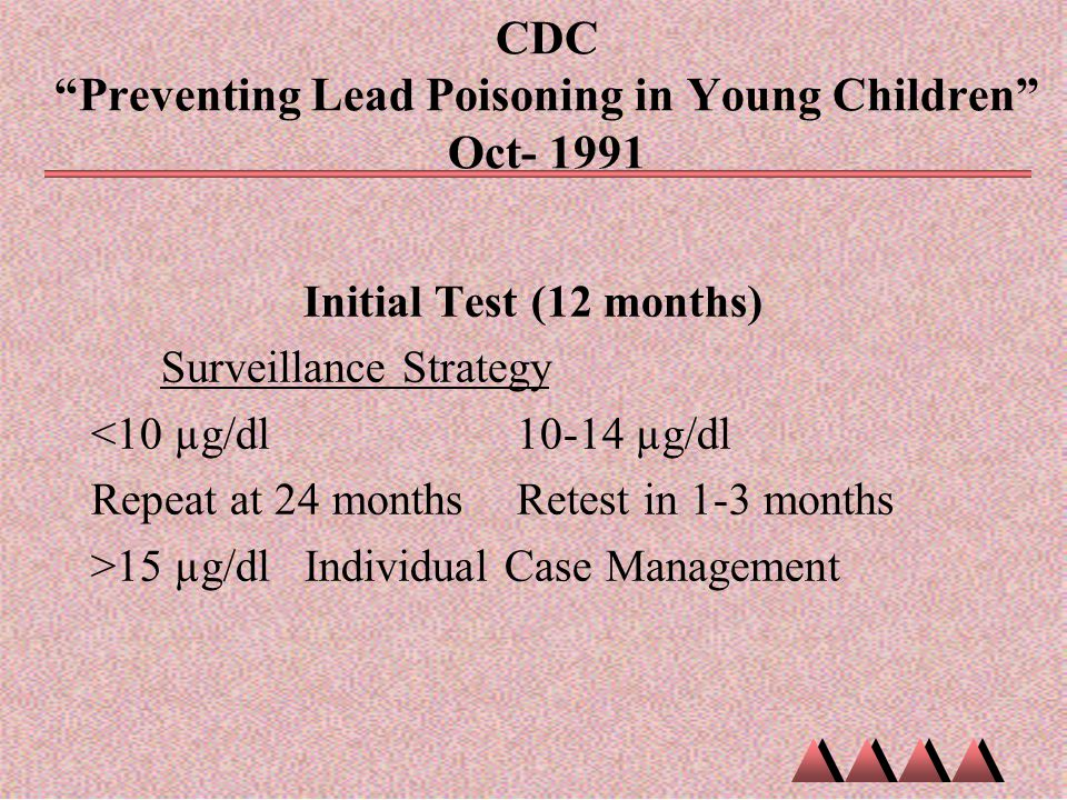 CDC Preventing Lead Poisoning in Young Children Oct- 1991