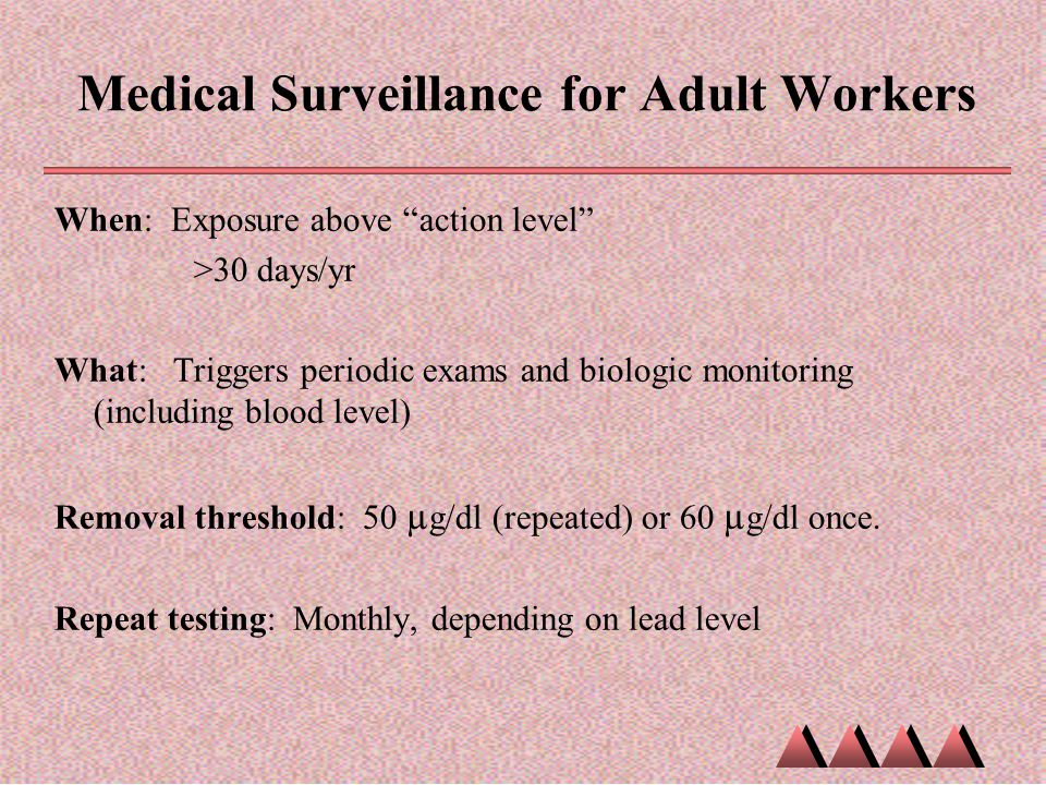 Medical Surveillance for Adult Workers