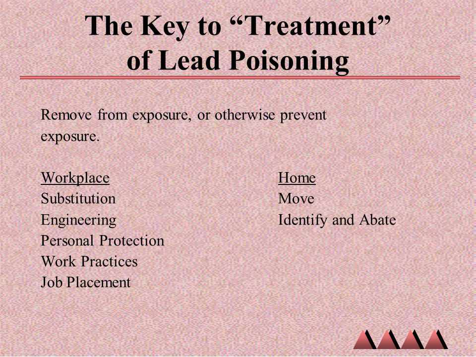 The Key to Treatment of Lead Poisoning