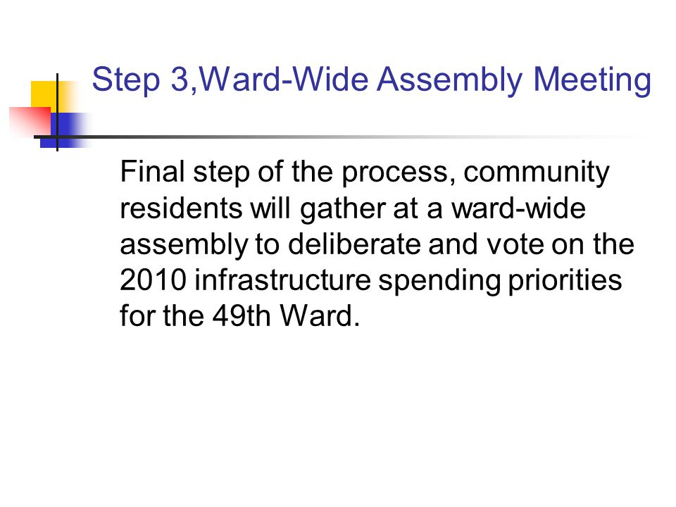 Step 3,Ward-Wide Assembly Meeting