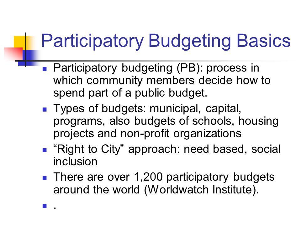 Participatory Budgeting Basics