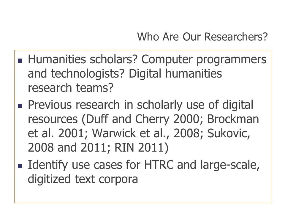 Who Are Our Researchers