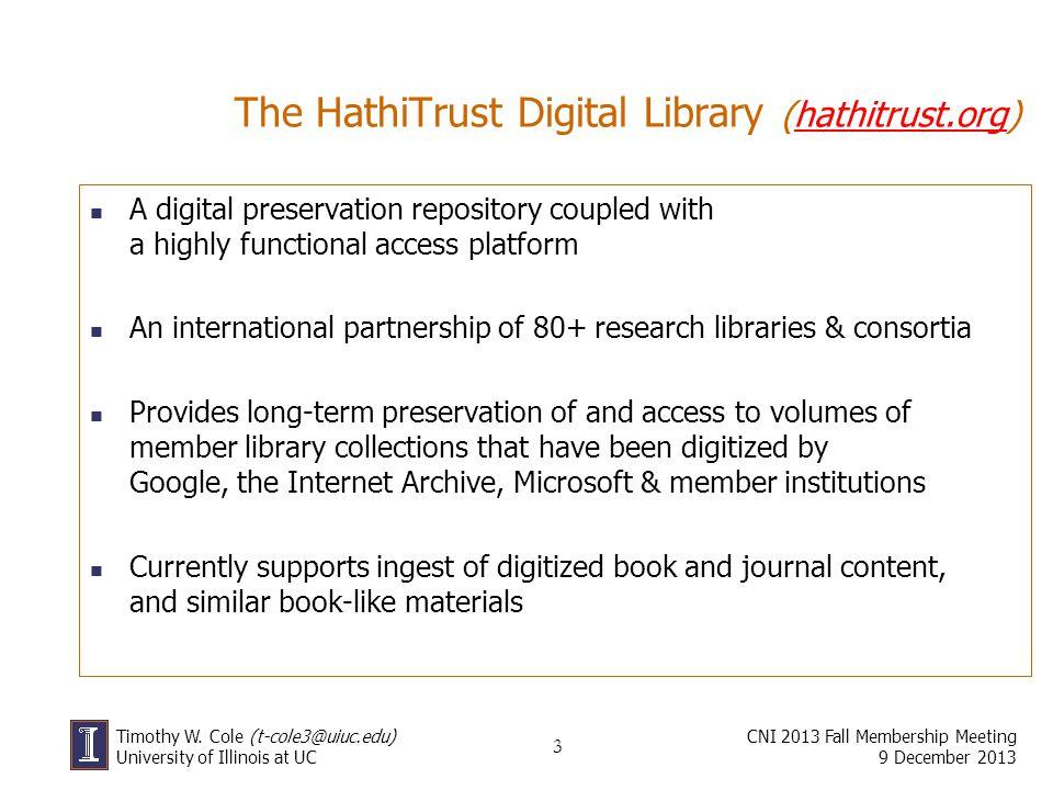 The HathiTrust Digital Library (hathitrust.org)