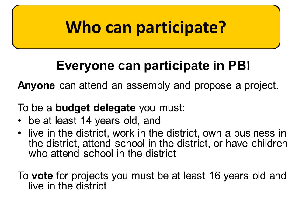 Participatory Budgeting in NYC
