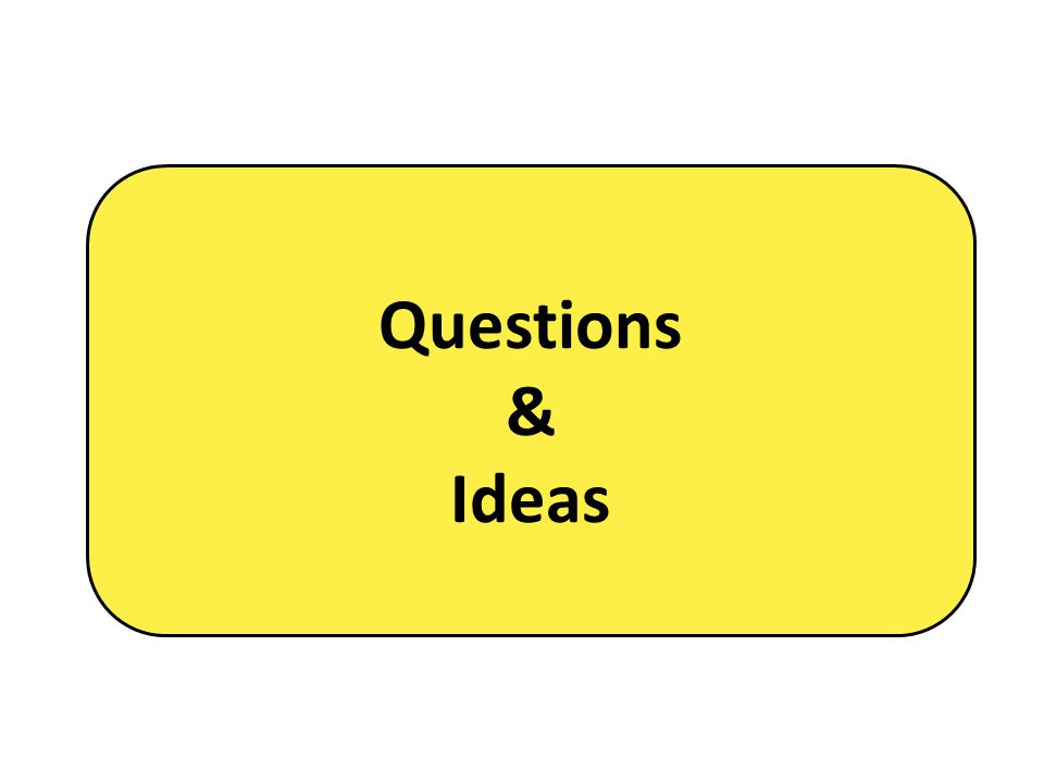 Questions & Ideas