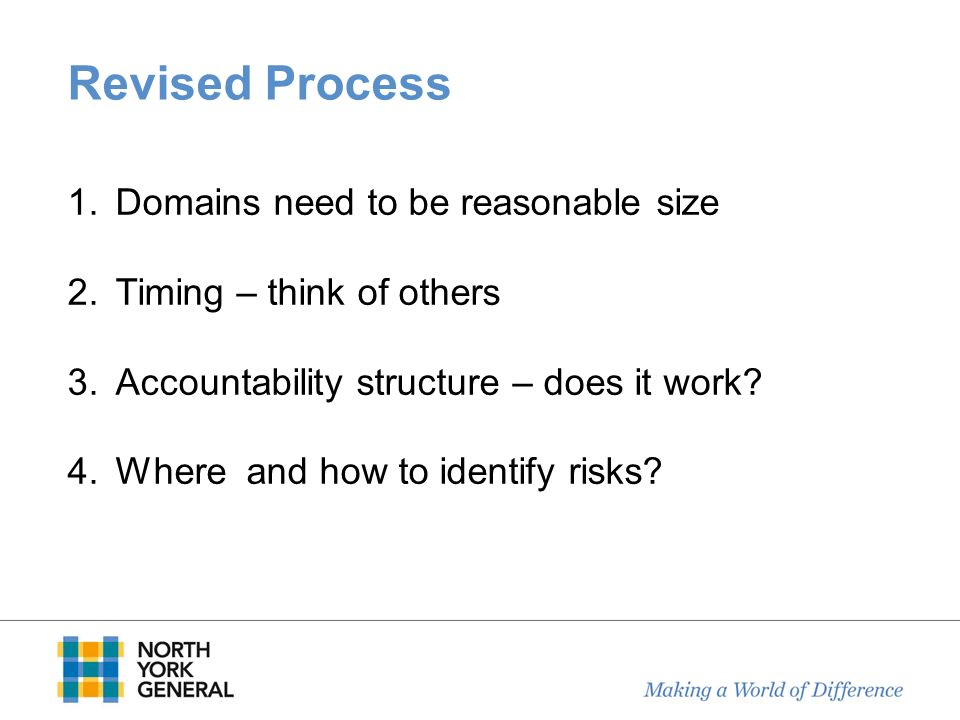 Revised Process Domains need to be reasonable size