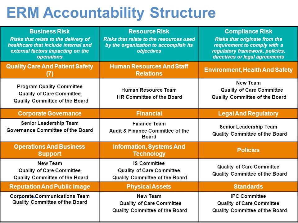 ERM Accountability Structure