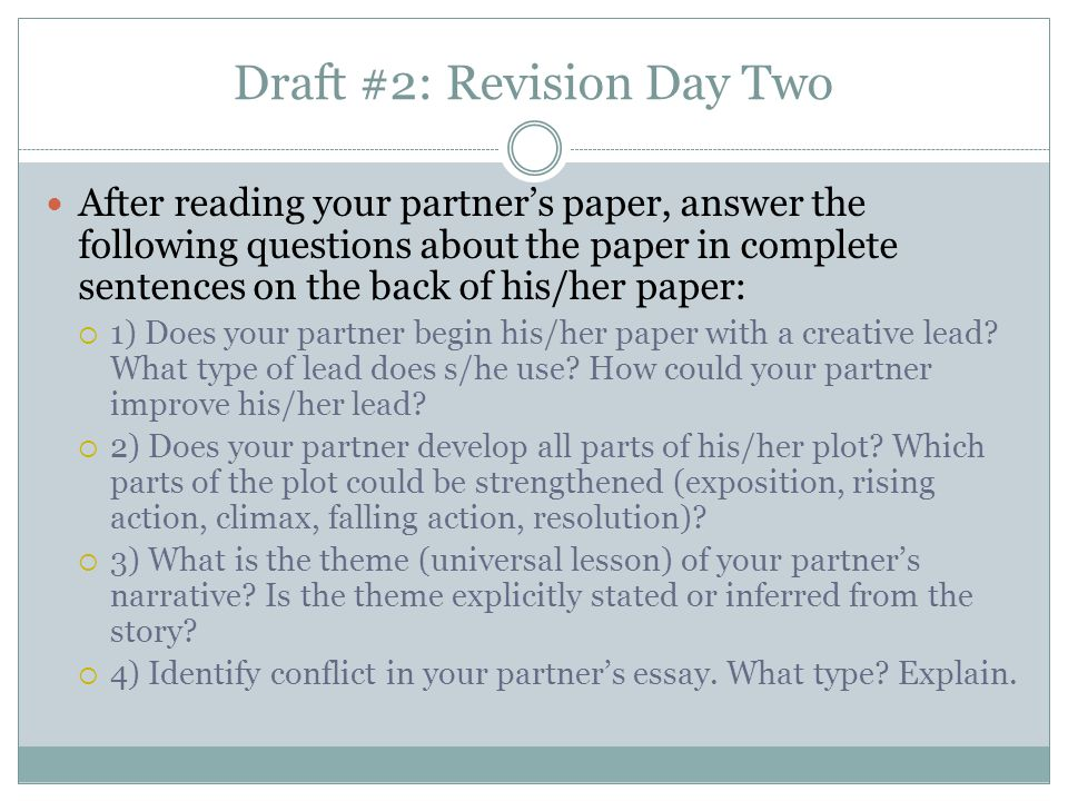 Draft #2: Revision Day Two
