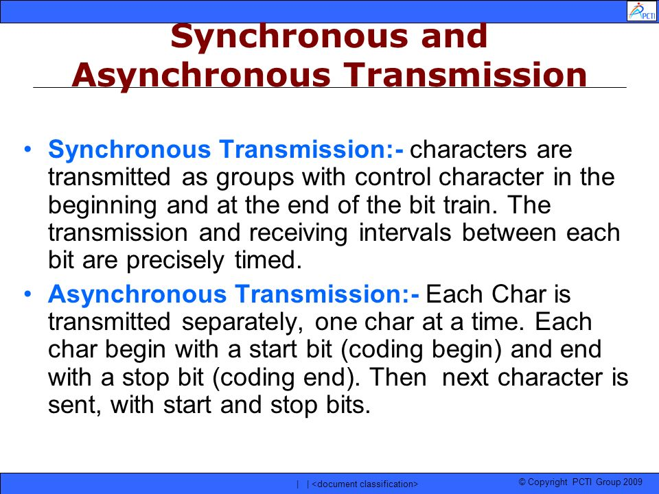 Synchronous and Asynchronous Transmission