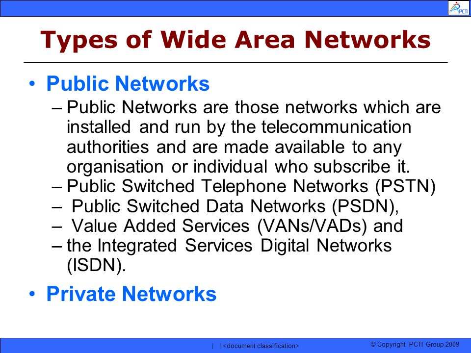 Types of Wide Area Networks