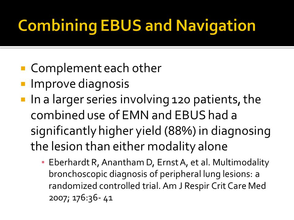 Combining EBUS and Navigation