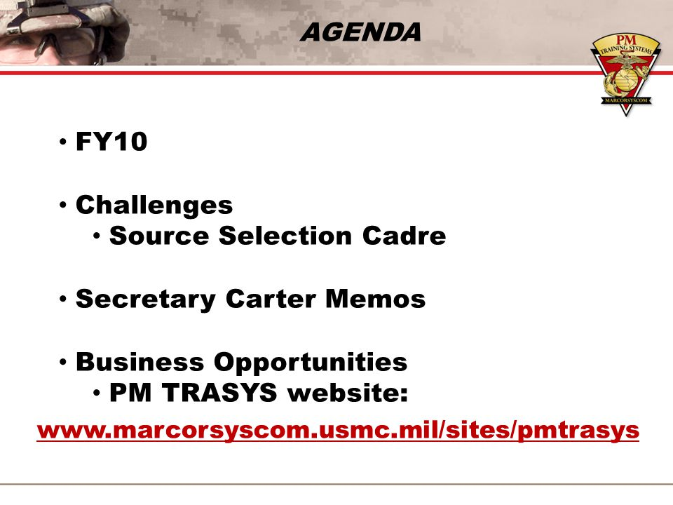 Source Selection Cadre Secretary Carter Memos Business Opportunities