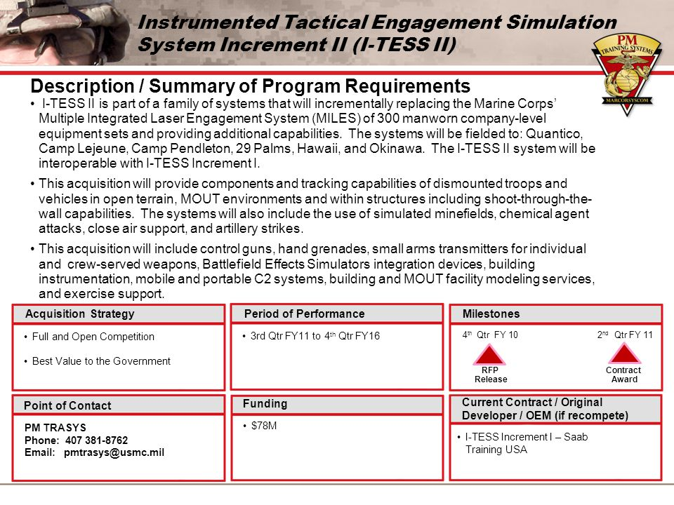 Description / Summary of Program Requirements