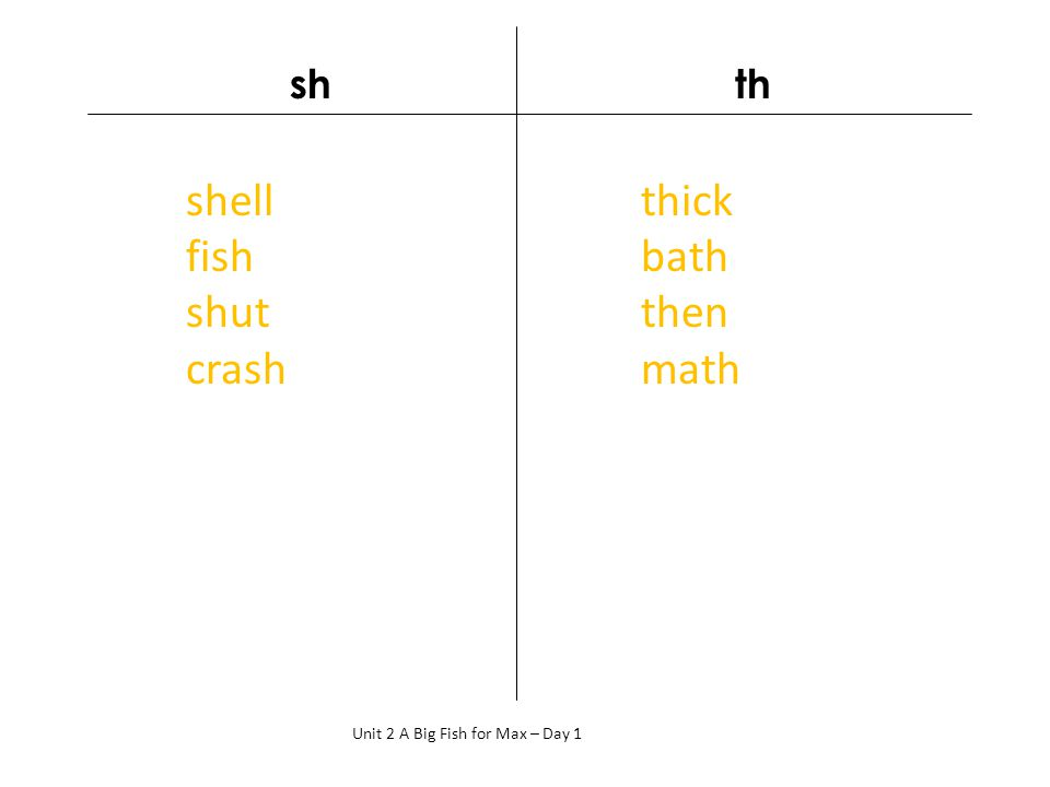 shell fish shut crash thick bath then math sh th