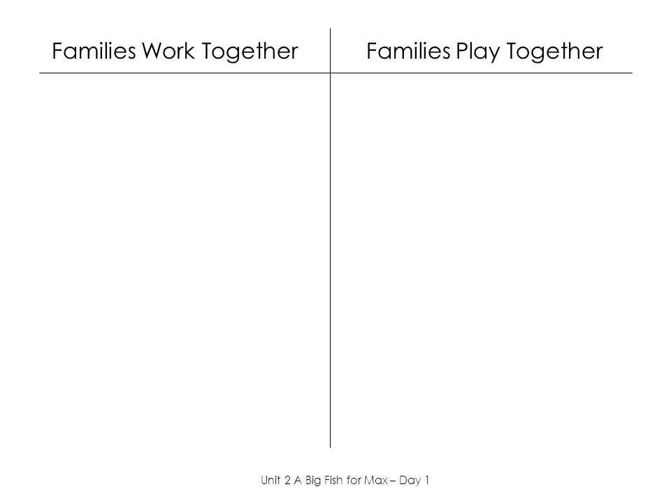 Families Work Together Families Play Together