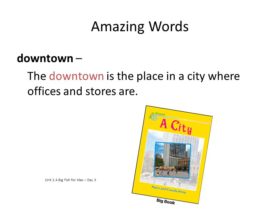 Amazing Words downtown –