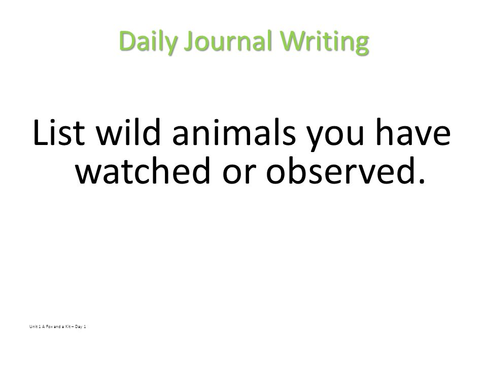List wild animals you have watched or observed.