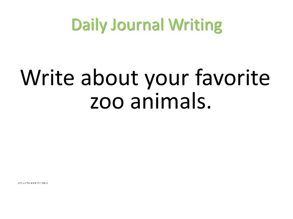 Write about your favorite zoo animals.