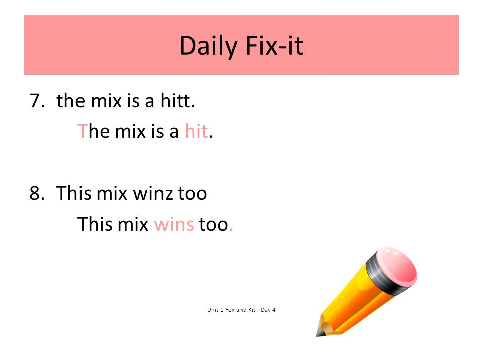 Daily Fix-it the mix is a hitt. The mix is a hit. This mix winz too